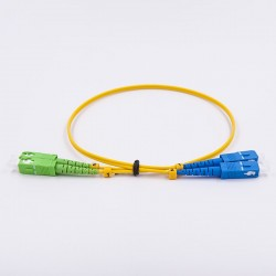 Fiber optic patch cable, Single-mode, 2xSCA-SCU