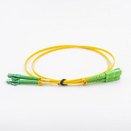 Оптический коммутационный кабель, одномодовый, 2хLCA-SCA
