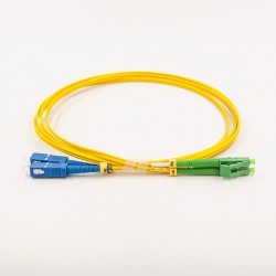Fiber optic patch cable, Single-mode, 2xLCA-SCU