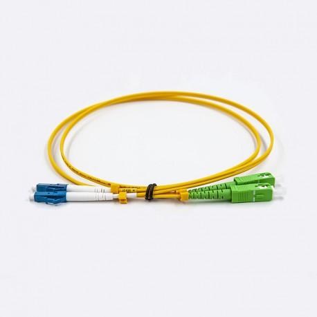 Fiber optic patch cable, Single-mode, 2xLCU-SCA